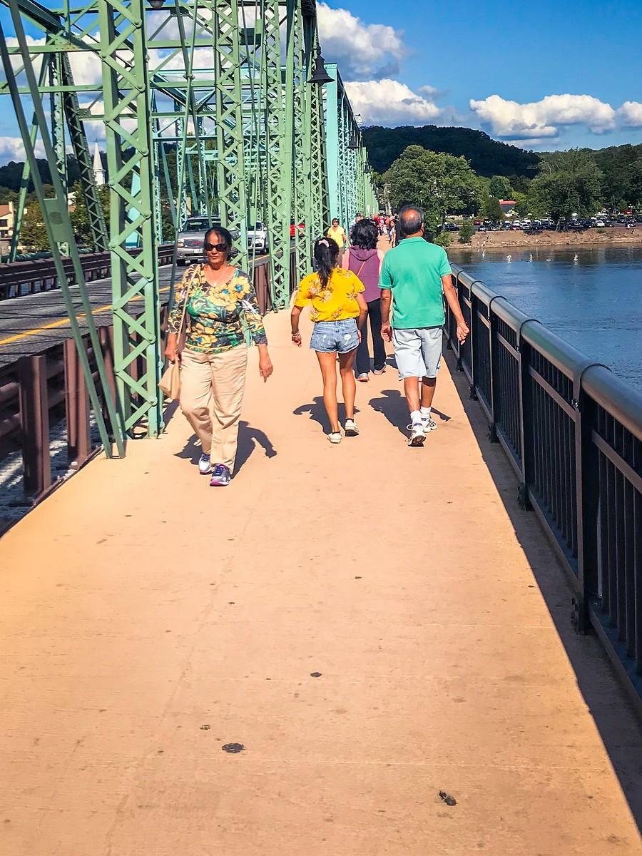 賓州新希望小城(New Hope),連接兩州的鐵橋(賓州和新澤西州) ..._圖1-7