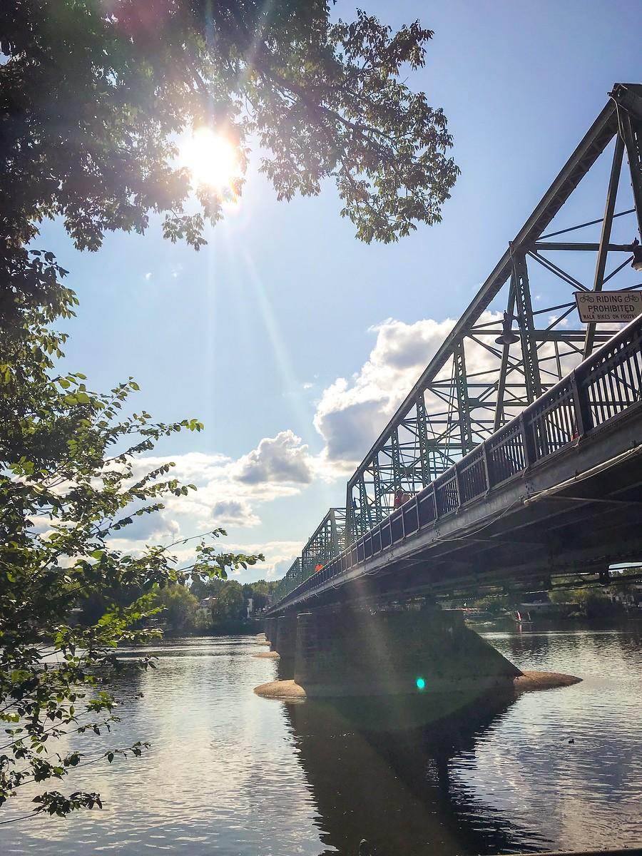 賓州新希望小城(New Hope),連接兩州的鐵橋(賓州和新澤西州) ..._圖1-16