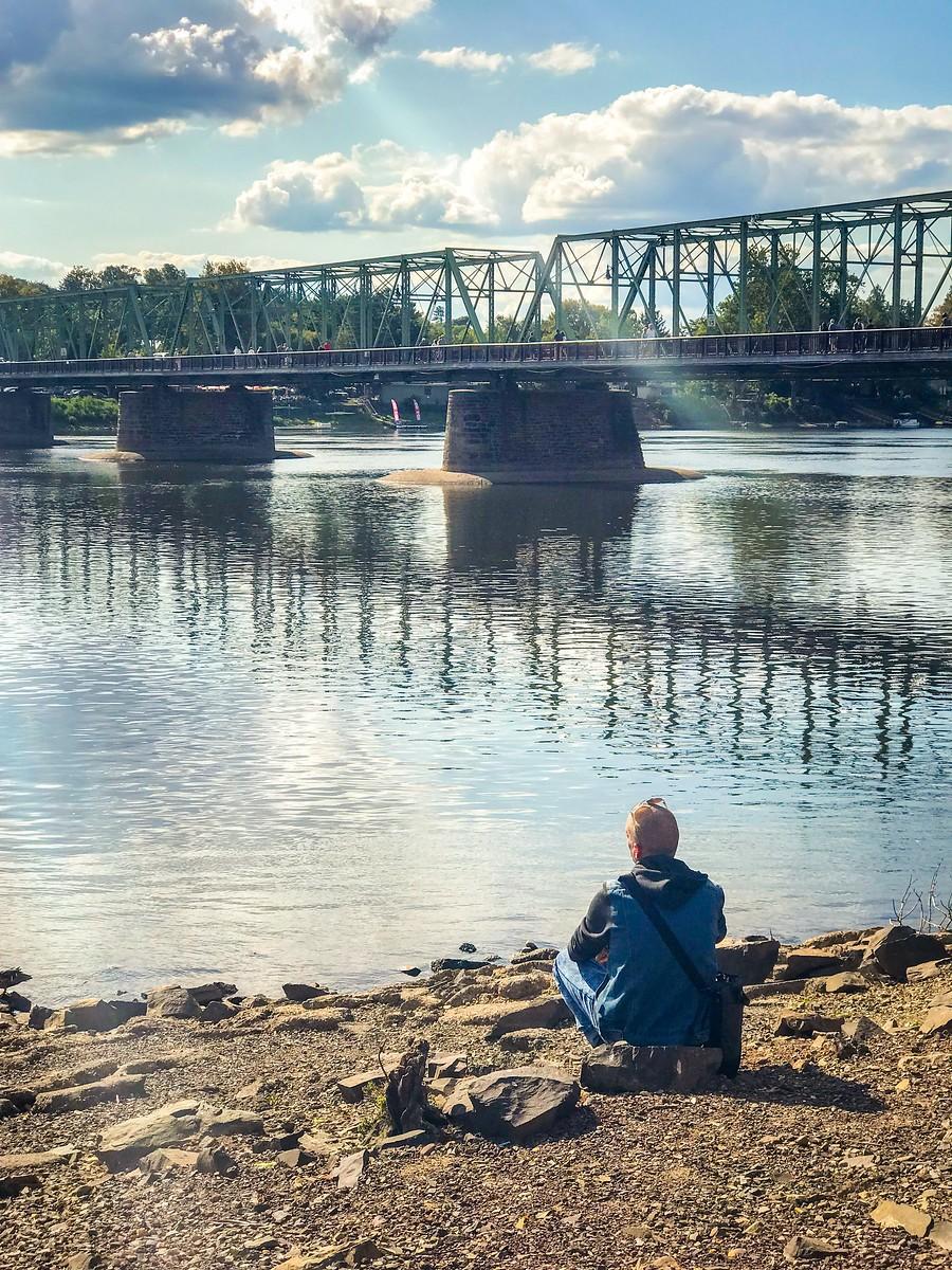 賓州新希望小城(New Hope),連接兩州的鐵橋(賓州和新澤西州) ..._圖1-4