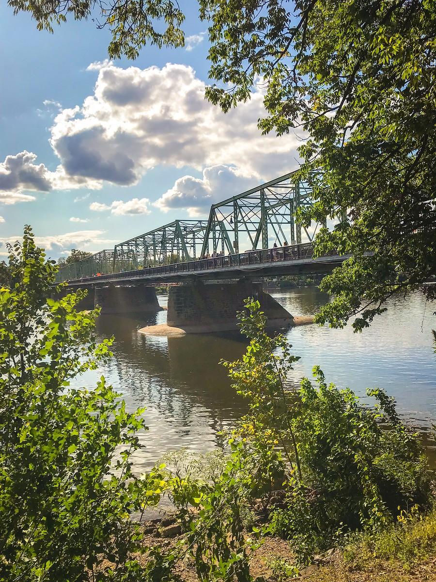 賓州新希望小城(New Hope),連接兩州的鐵橋(賓州和新澤西州) ..._圖1-18