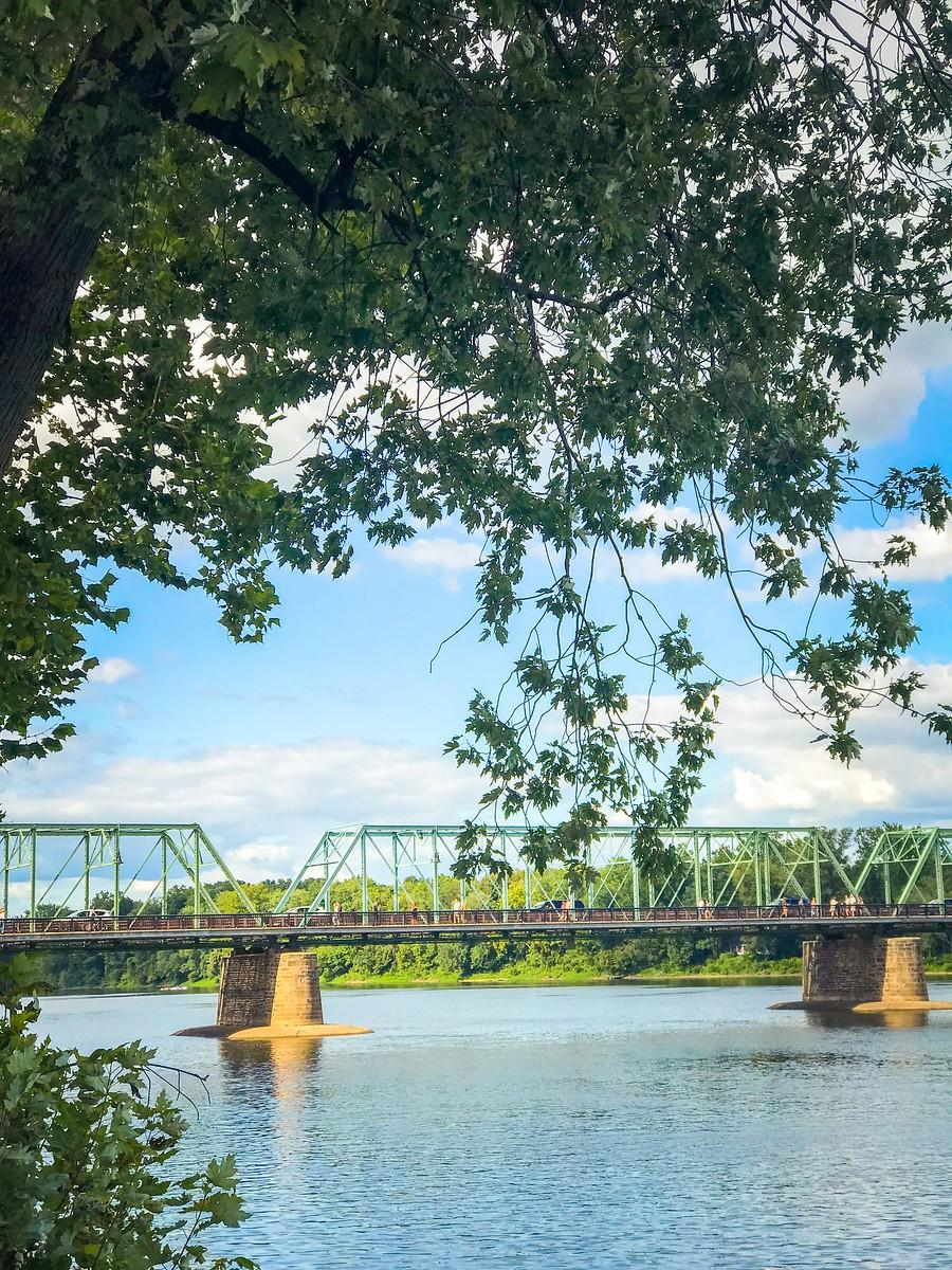 賓州新希望小城(New Hope),連接兩州的鐵橋(賓州和新澤西州) ..._圖1-27