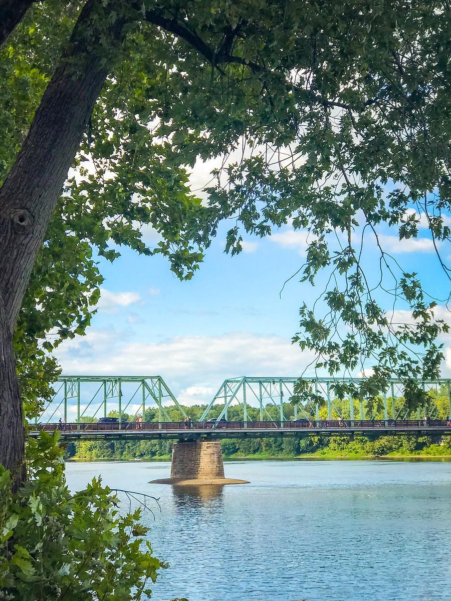 賓州新希望小城(New Hope),連接兩州的鐵橋(賓州和新澤西州) ..._圖1-25
