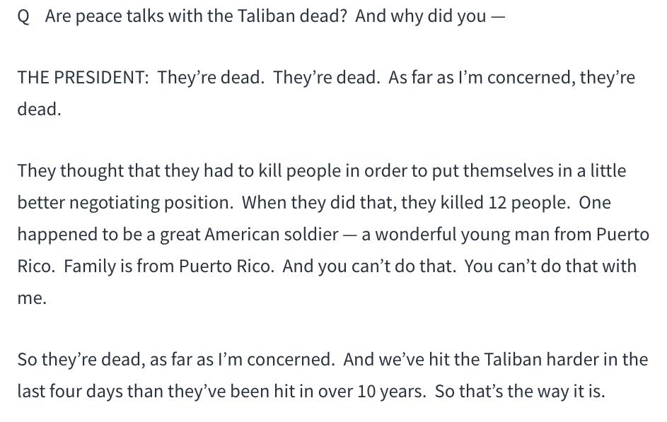 特朗普:与塔利班秘密谈判的失败过程_图1-1