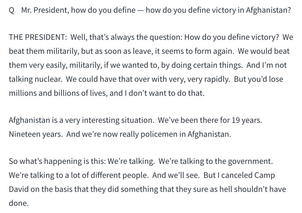 特朗普:与塔利班秘密谈判的失败过程_图1-6