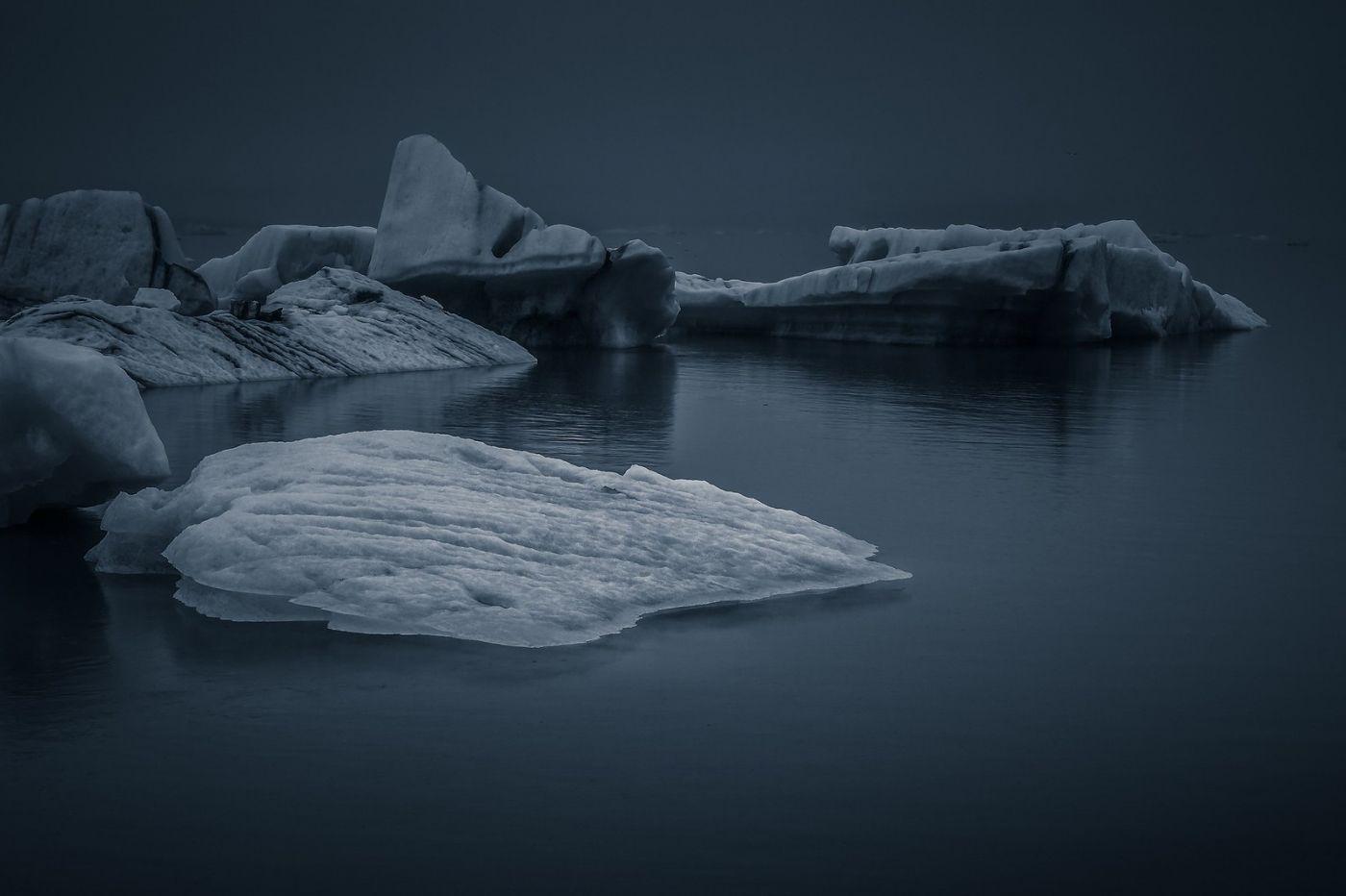 冰岛冰川泻湖(Glacier Lagoon),流动的冰川_图1-7