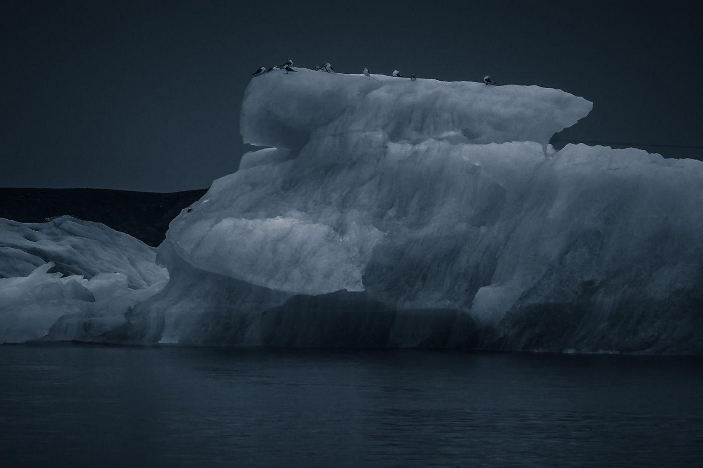 冰岛冰川泻湖(Glacier Lagoon),流动的冰川_图1-6