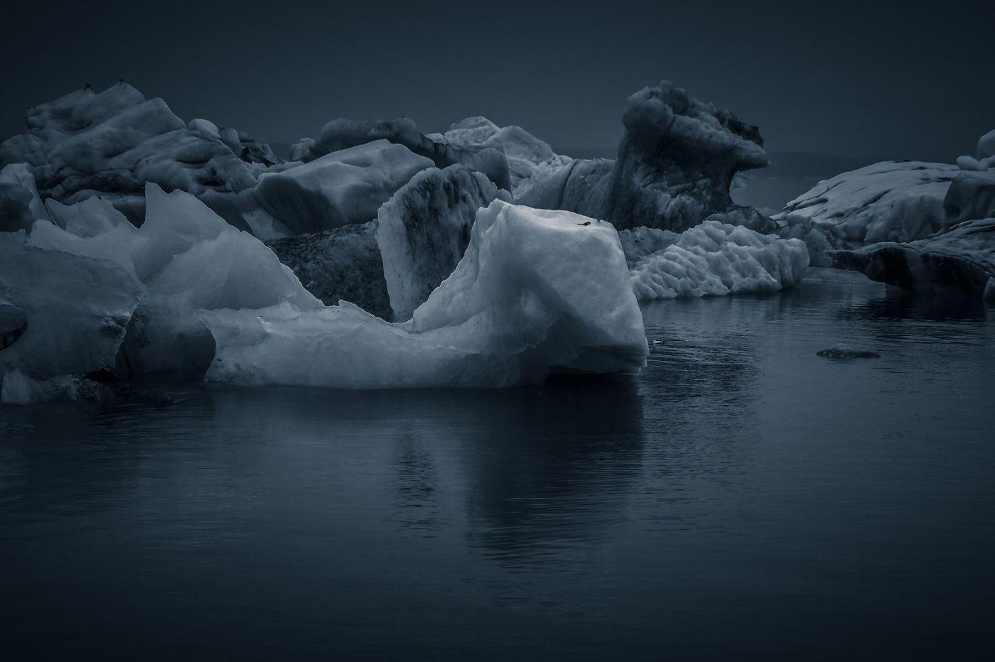 冰岛冰川泻湖(Glacier Lagoon),流动的冰川_图1-8