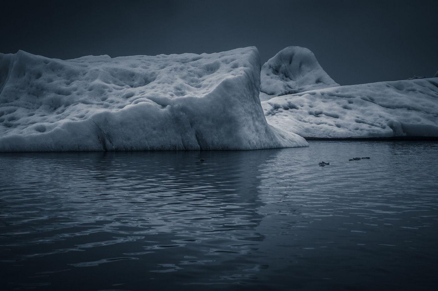 冰岛冰川泻湖(Glacier Lagoon),流动的冰川_图1-4