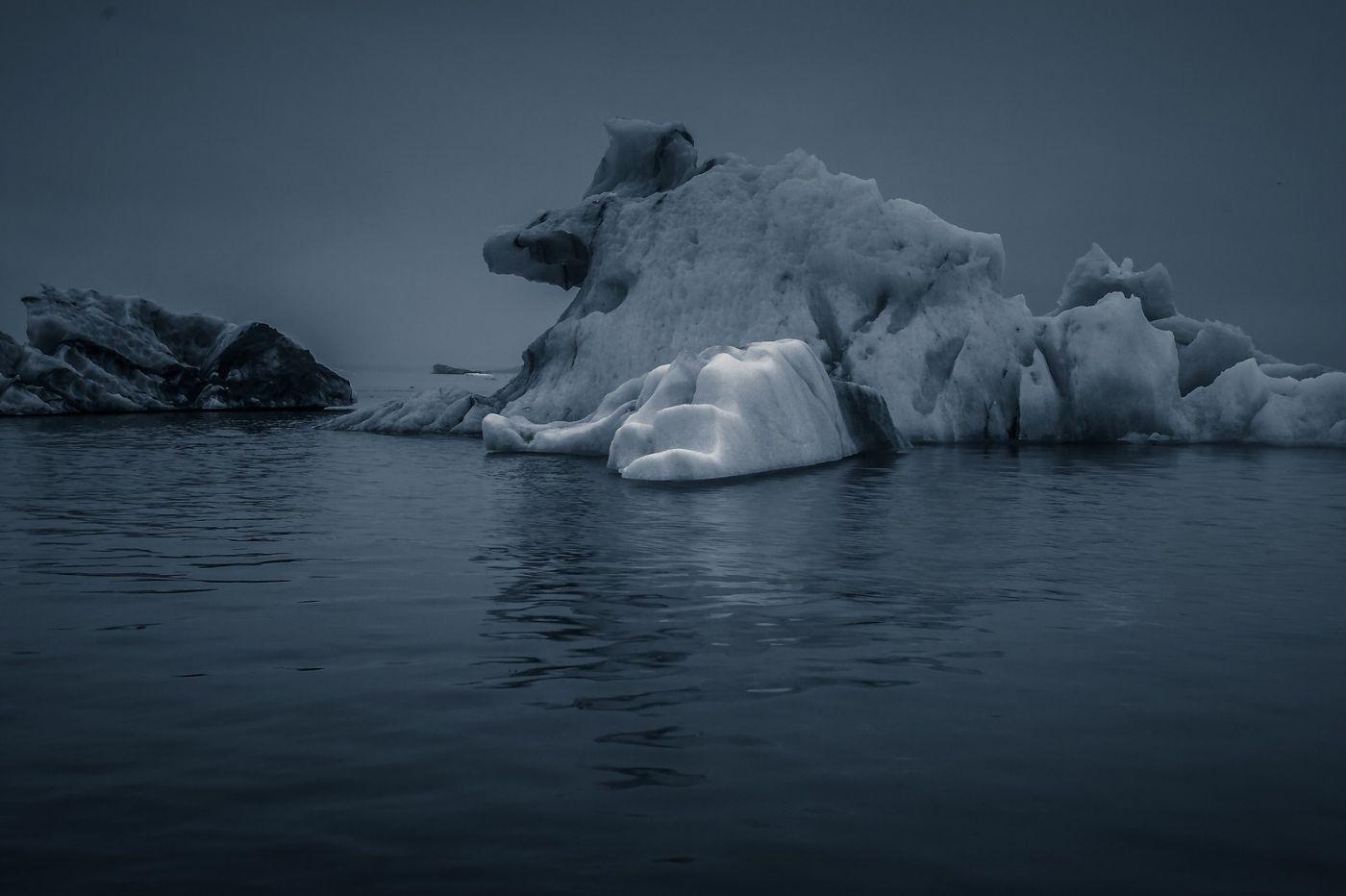 冰岛冰川泻湖(Glacier Lagoon),流动的冰川_图1-5
