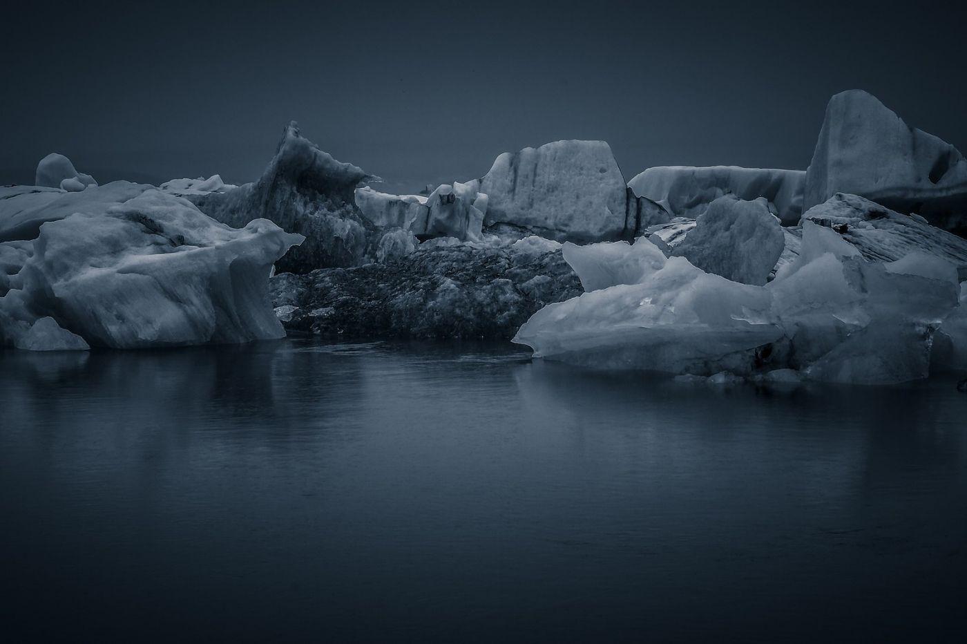 冰岛冰川泻湖(Glacier Lagoon),流动的冰川_图1-3