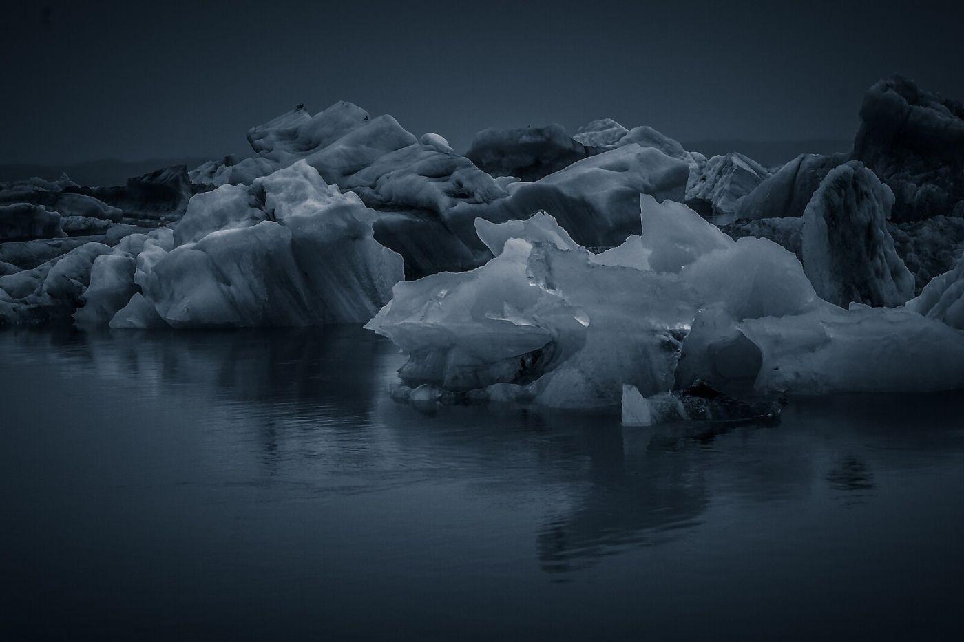 冰岛冰川泻湖(Glacier Lagoon),流动的冰川_图1-9