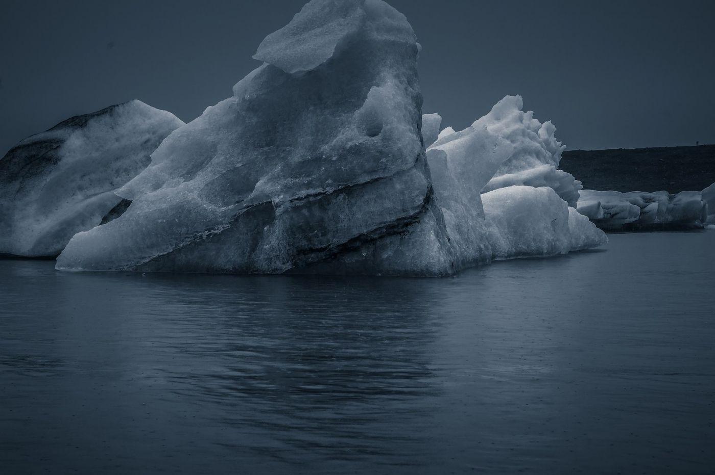 冰岛冰川泻湖(Glacier Lagoon),流动的冰川_图1-2