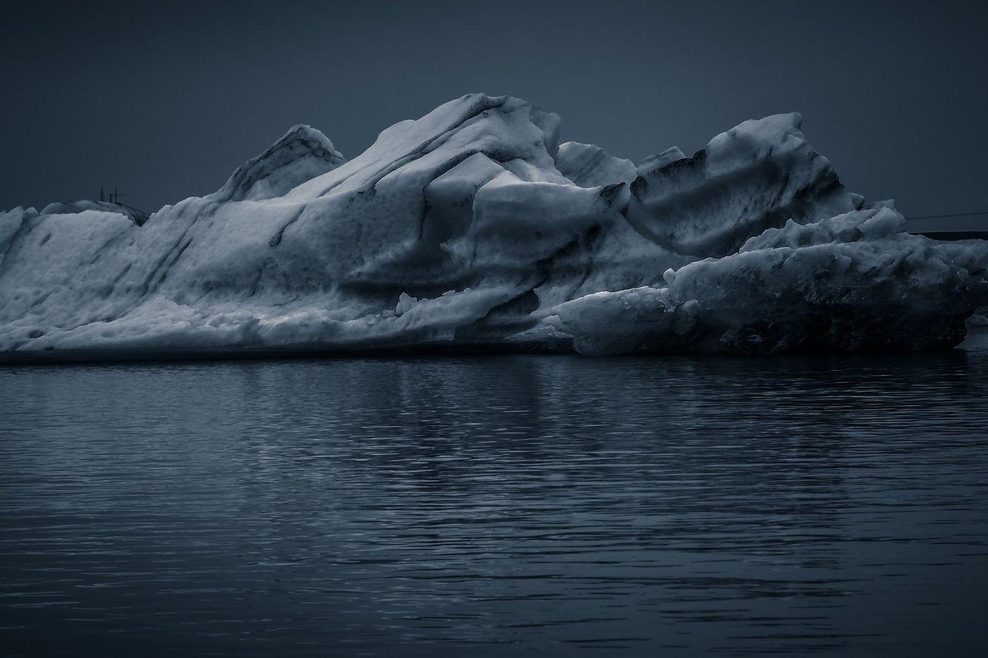 冰岛冰川泻湖(Glacier Lagoon),流动的冰川_图1-12