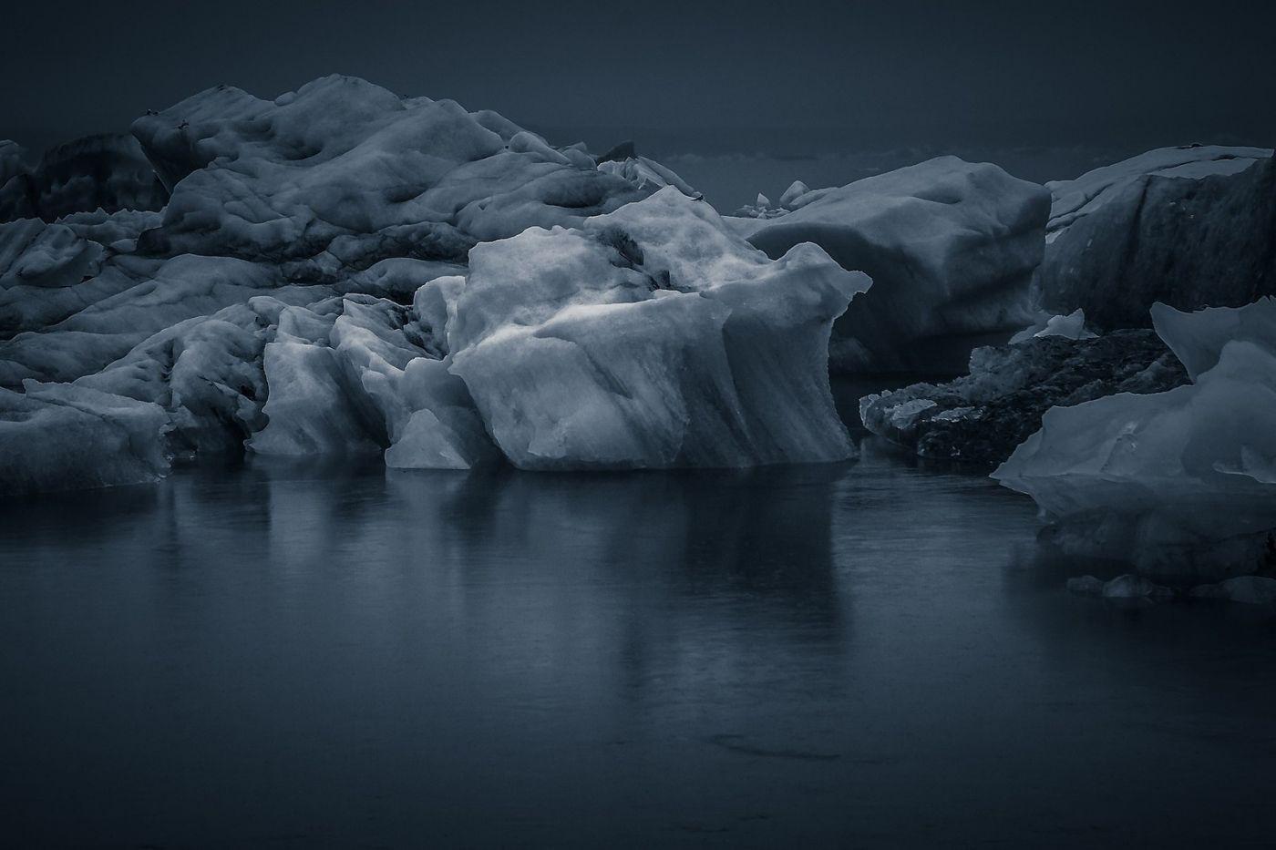 冰岛冰川泻湖(Glacier Lagoon),流动的冰川_图1-14