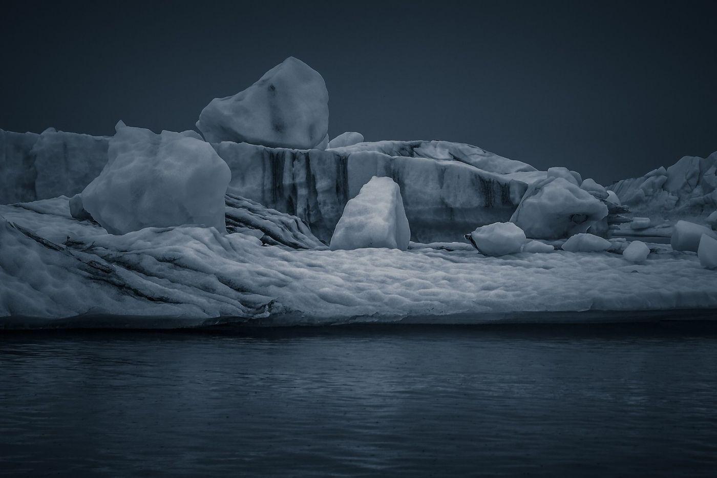 冰岛冰川泻湖(Glacier Lagoon),流动的冰川_图1-17