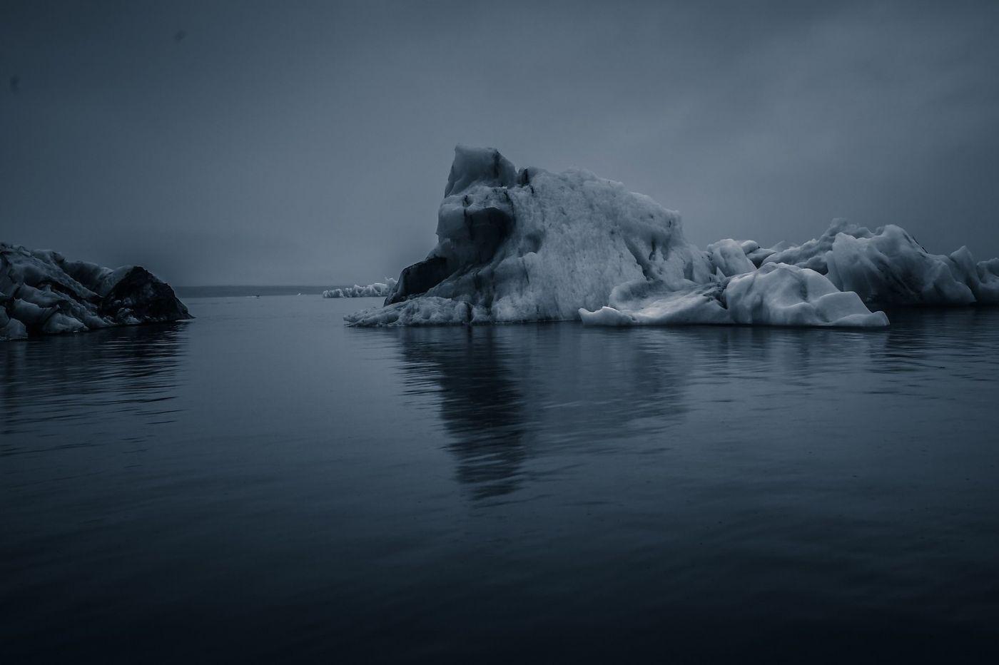 冰岛冰川泻湖(Glacier Lagoon),流动的冰川_图1-18