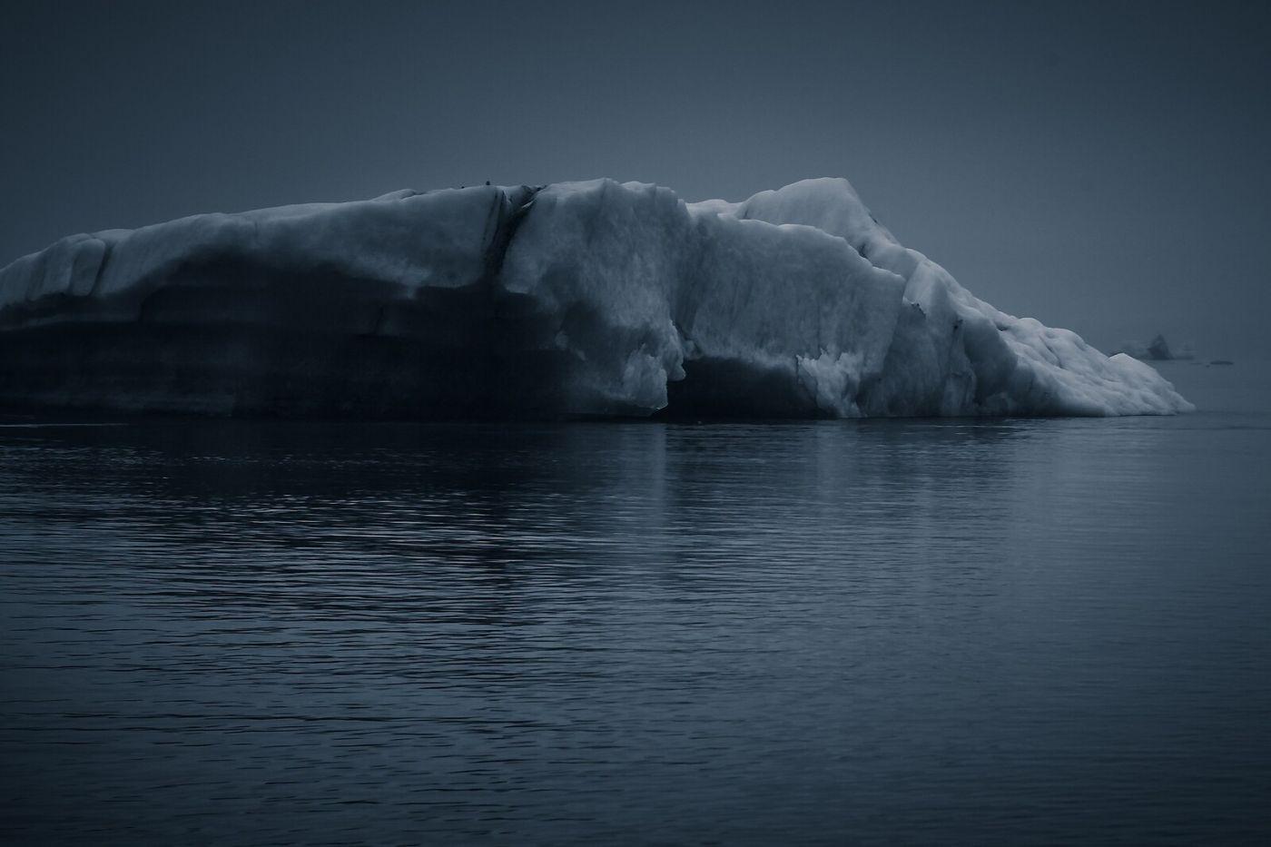 冰岛冰川泻湖(Glacier Lagoon),流动的冰川_图1-19