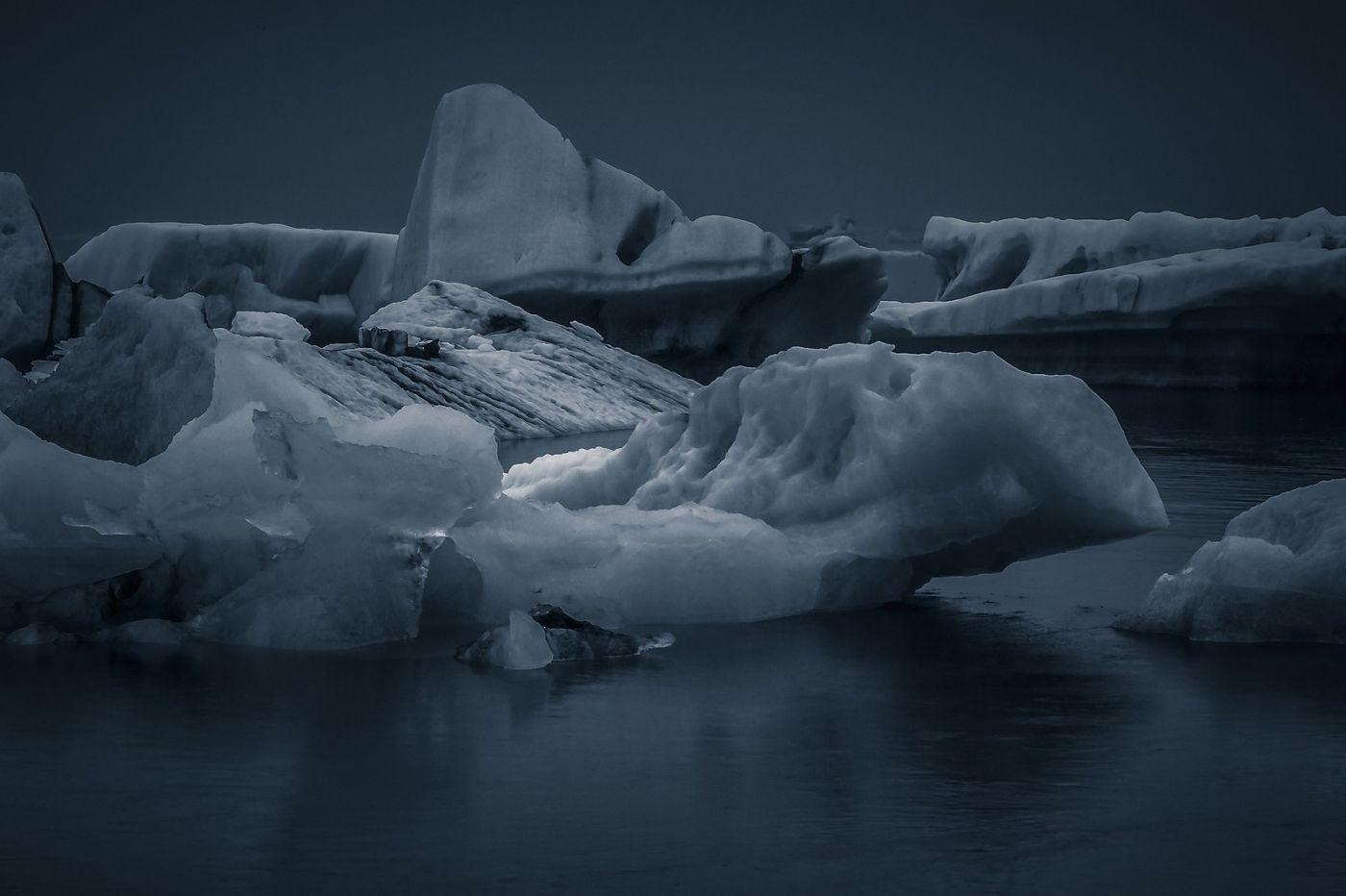 冰岛冰川泻湖(Glacier Lagoon),流动的冰川_图1-24