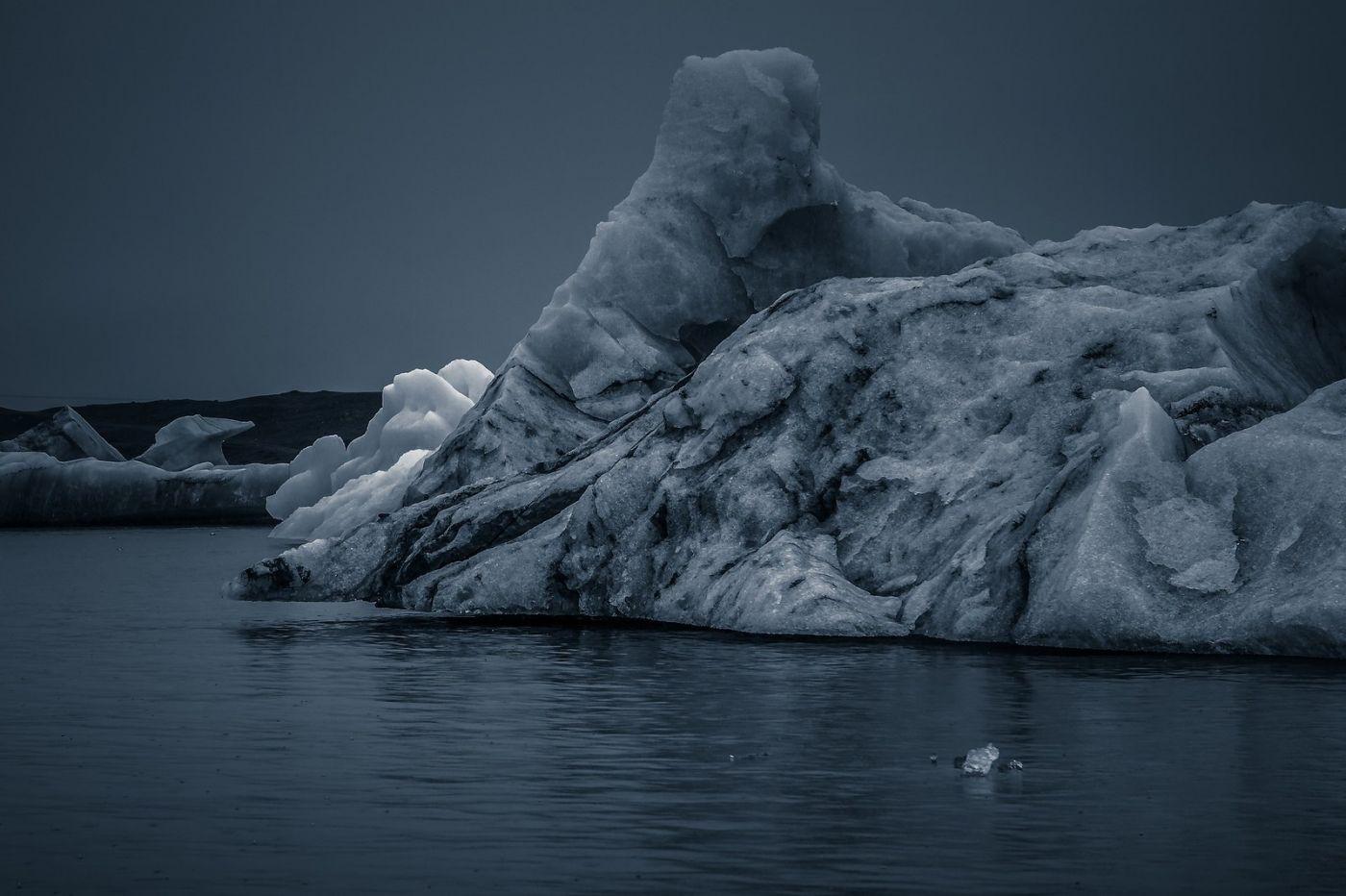 冰岛冰川泻湖(Glacier Lagoon),流动的冰川_图1-23