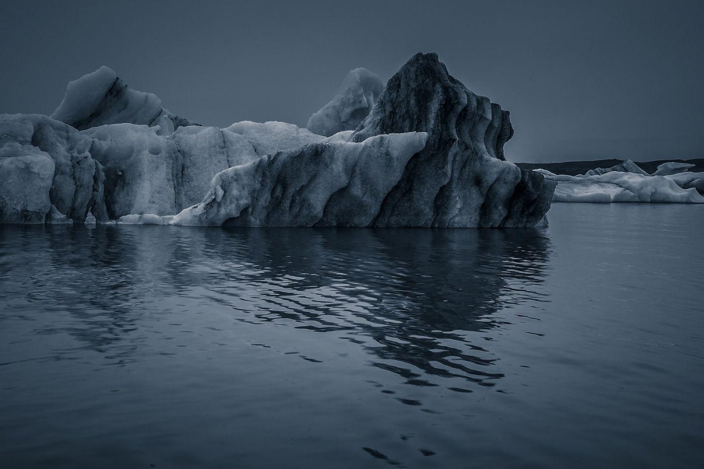 冰岛冰川泻湖(Glacier Lagoon),流动的冰川_图1-22