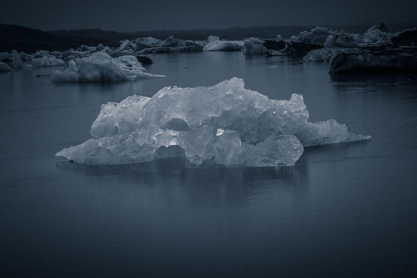 冰岛冰川泻湖(Glacier Lagoon),流动的冰川_图1-21