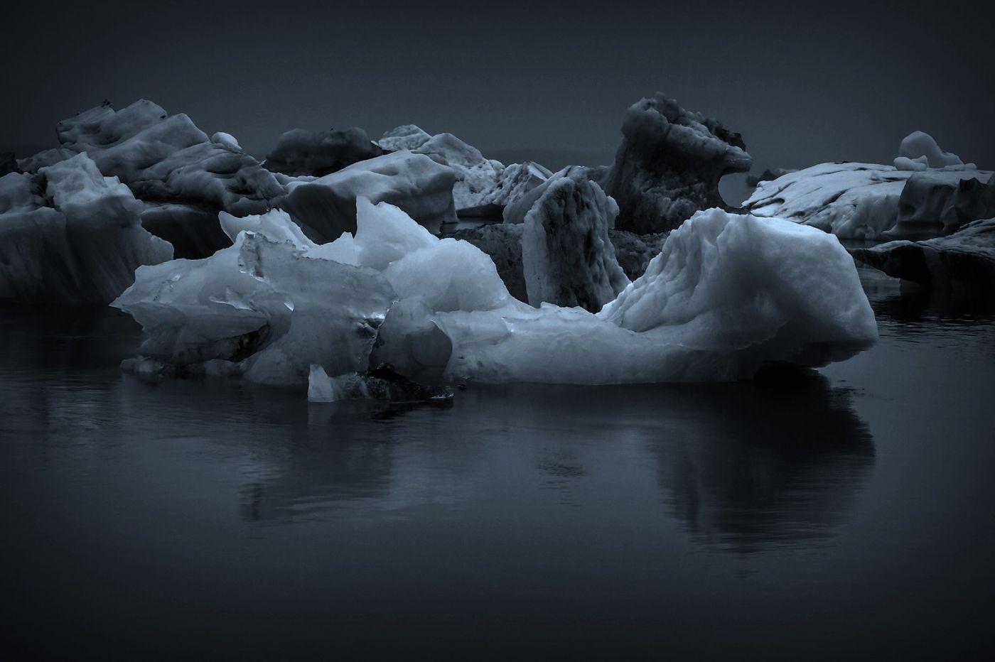 冰岛冰川泻湖(Glacier Lagoon),流动的冰川_图1-25