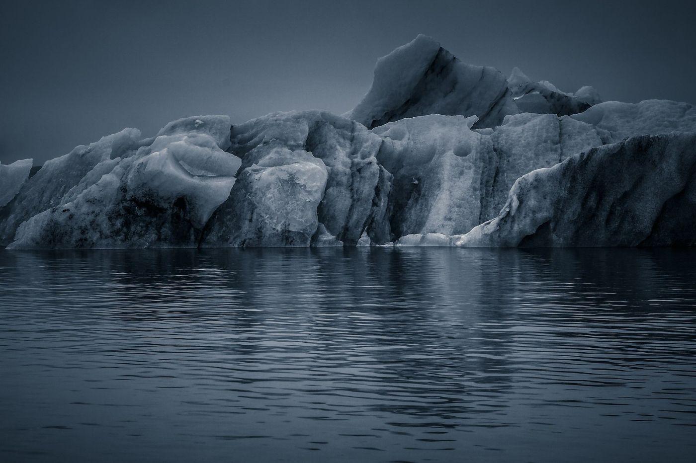 冰岛冰川泻湖(Glacier Lagoon),流动的冰川_图1-27