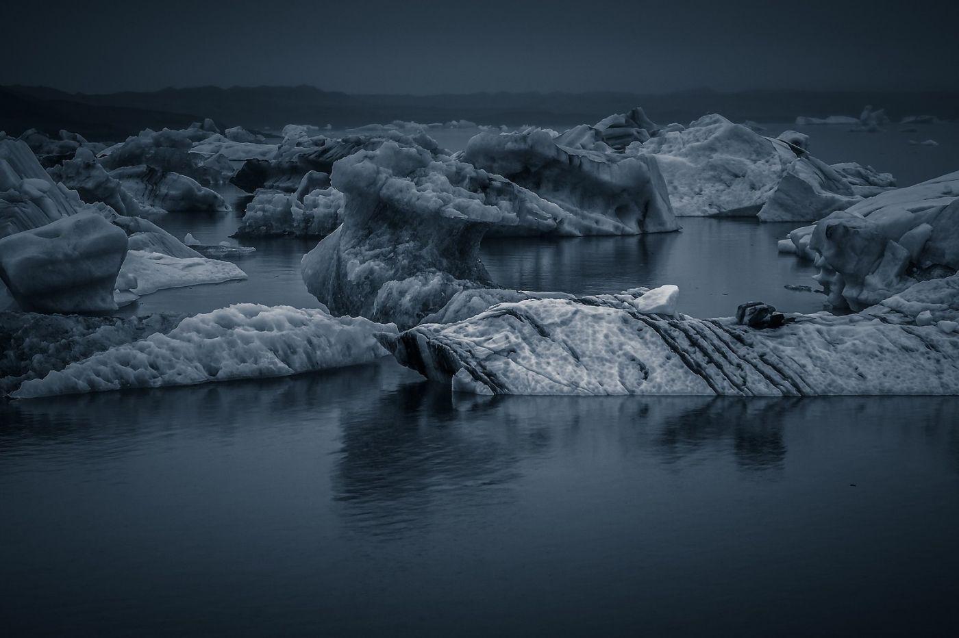 冰岛冰川泻湖(Glacier Lagoon),流动的冰川_图1-28
