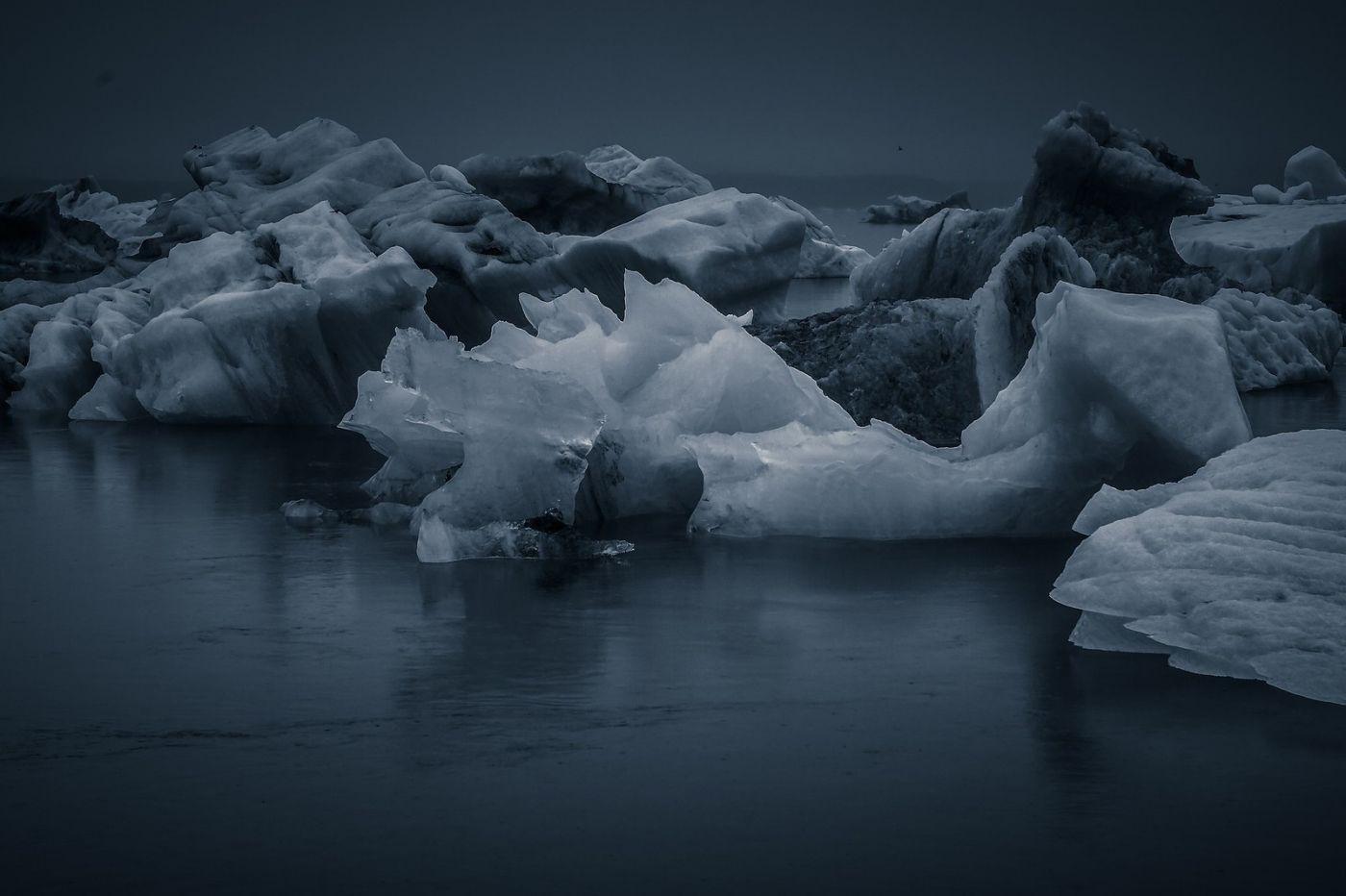 冰岛冰川泻湖(Glacier Lagoon),流动的冰川_图1-30