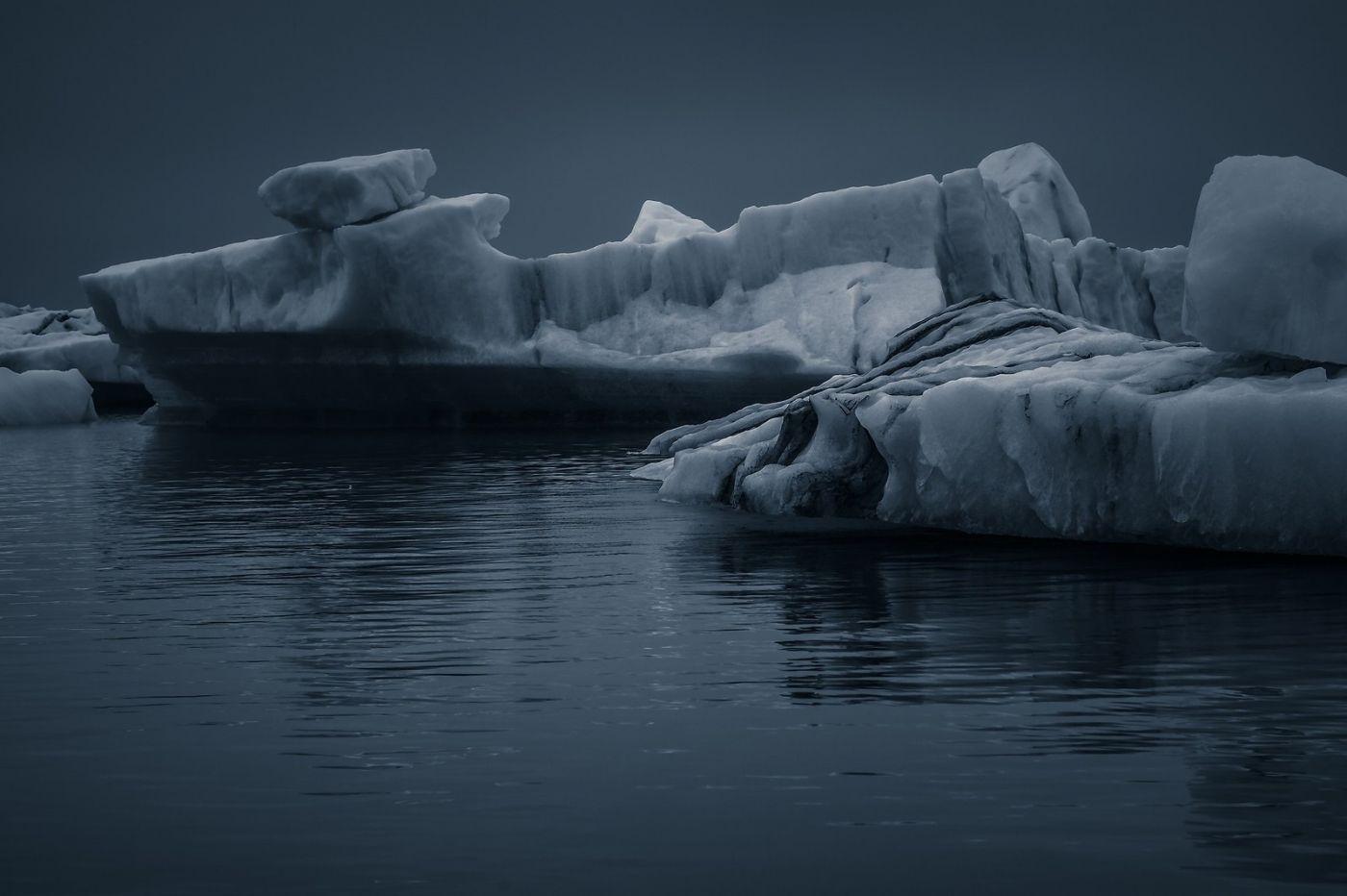 冰岛冰川泻湖(Glacier Lagoon),流动的冰川_图1-33