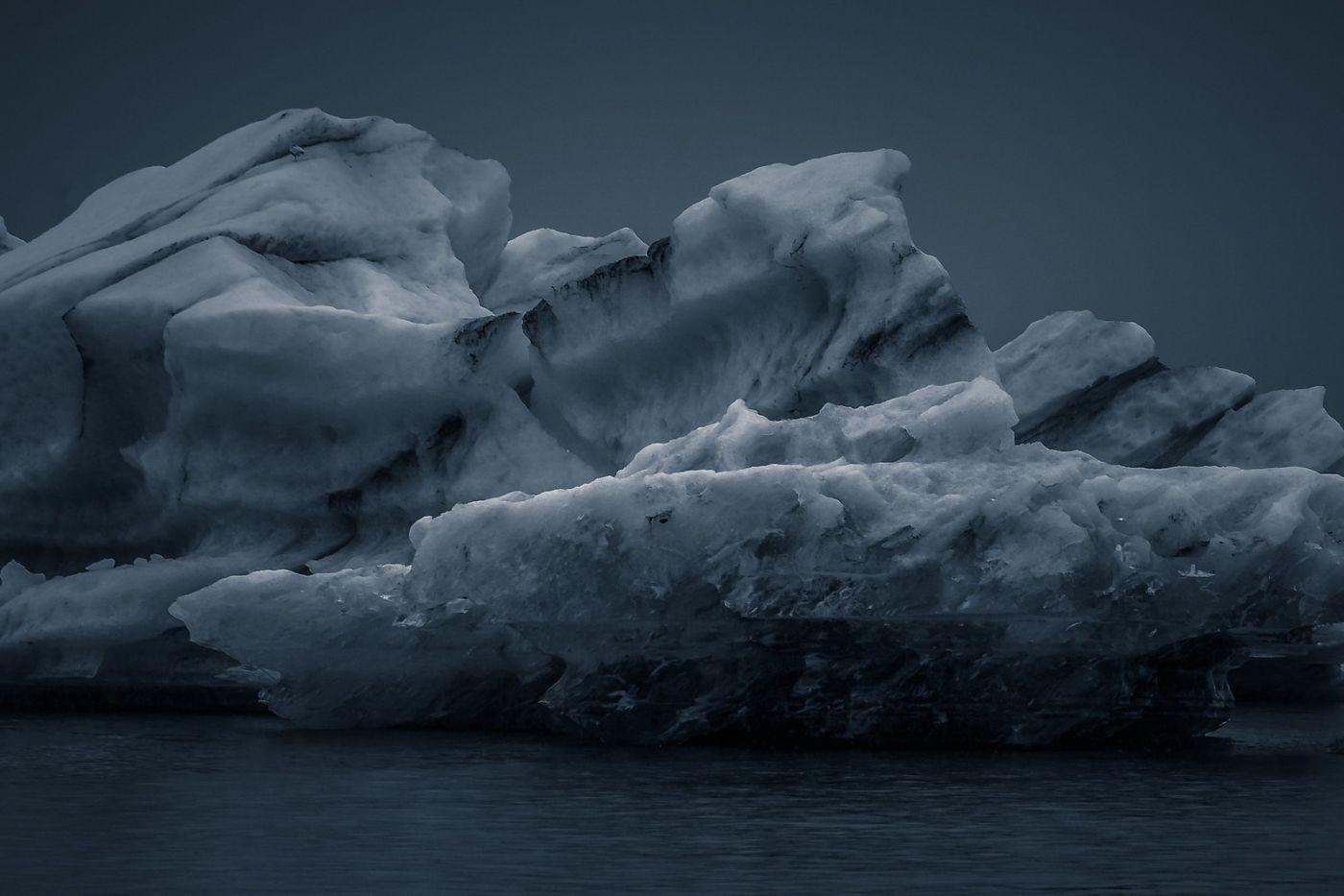 冰岛冰川泻湖(Glacier Lagoon),流动的冰川_图1-29