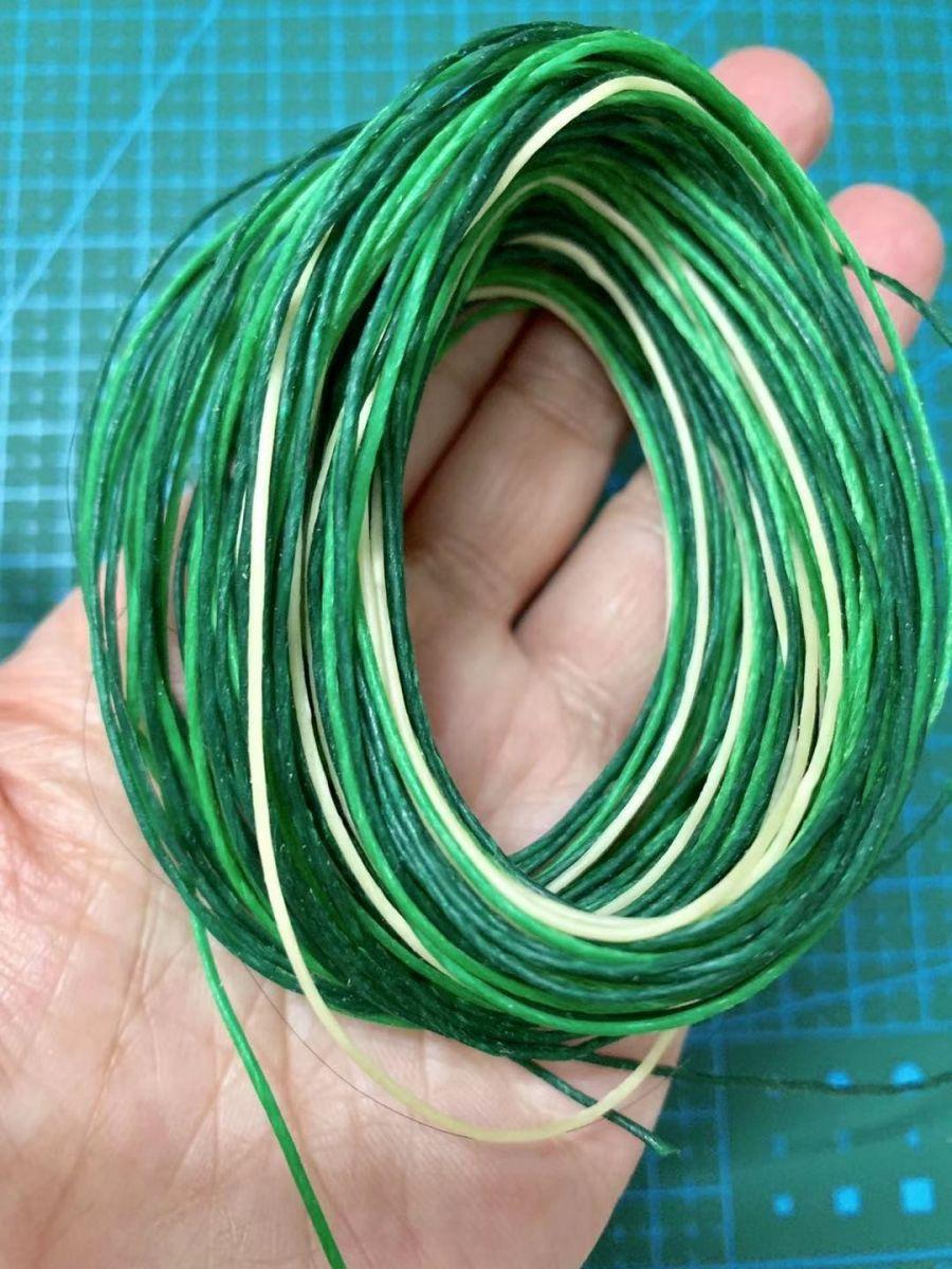 中秋结绳(轮回手绳)鲜亮的绿色是不是感觉很有活力?_图1-1