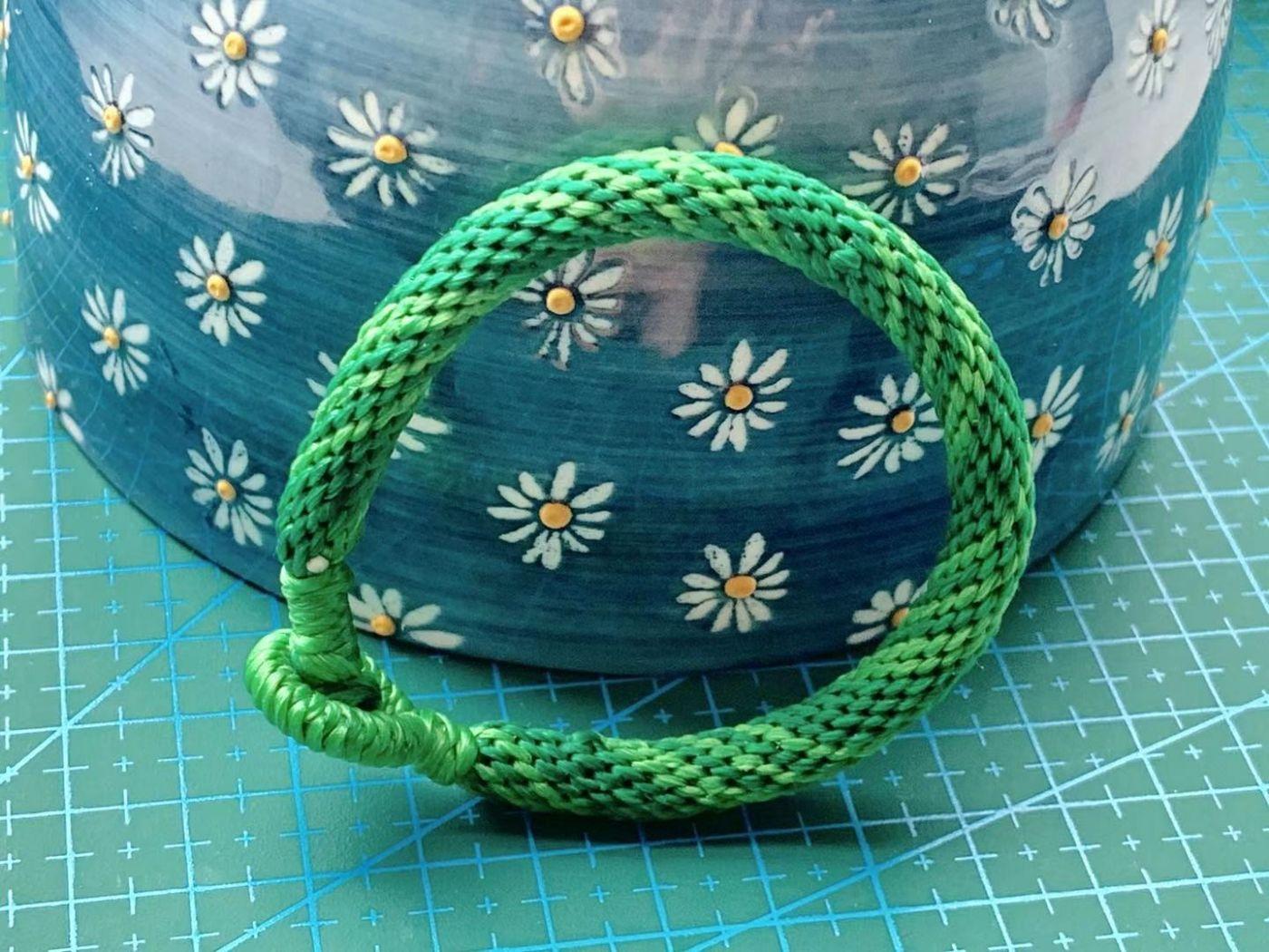 中秋结绳(轮回手绳)鲜亮的绿色是不是感觉很有活力?_图1-5