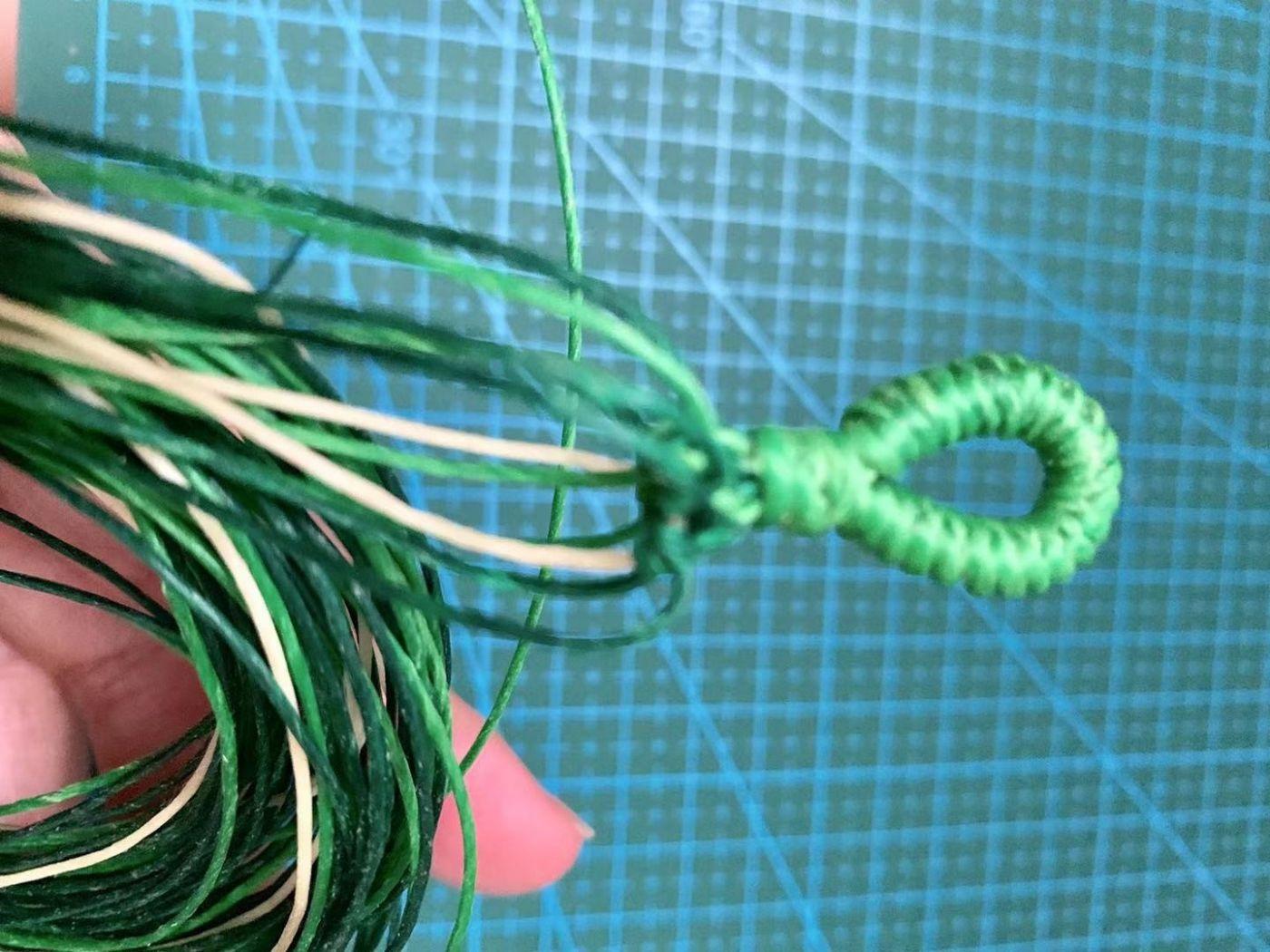 中秋结绳(轮回手绳)鲜亮的绿色是不是感觉很有活力?_图1-2
