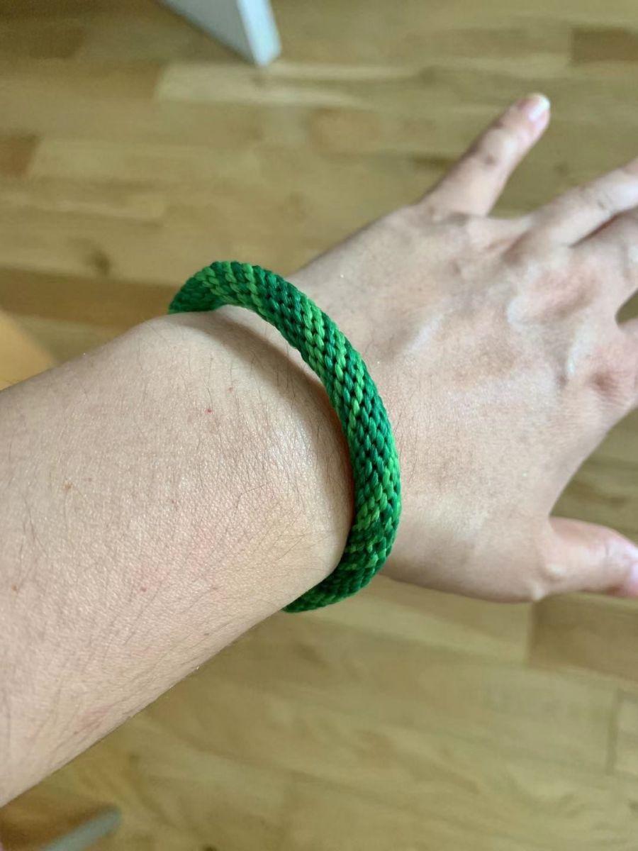 中秋结绳(轮回手绳)鲜亮的绿色是不是感觉很有活力?_图1-7