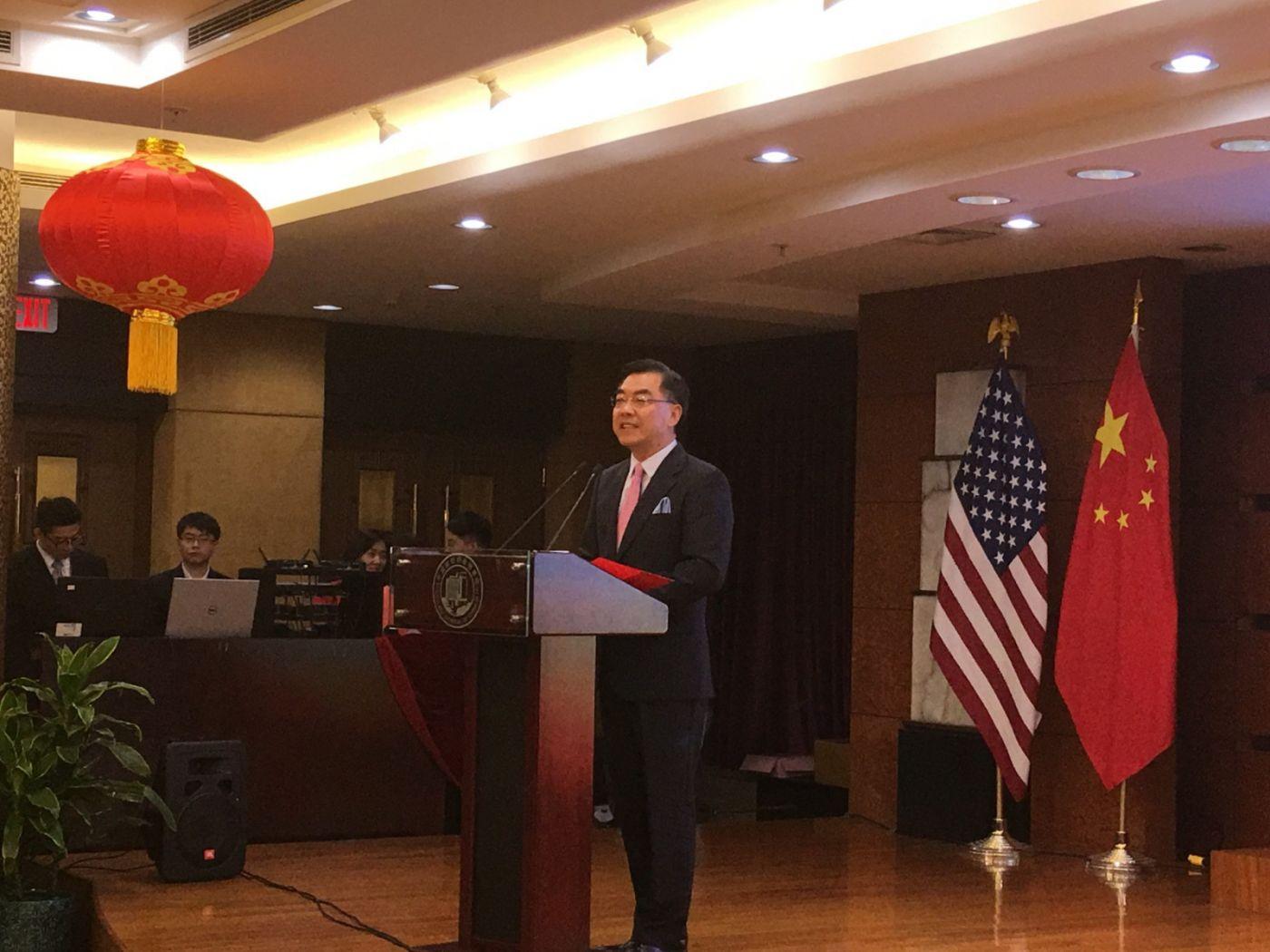 中国驻纽约总领事馆舉辦庆祝建国70周年招待會_图1-3