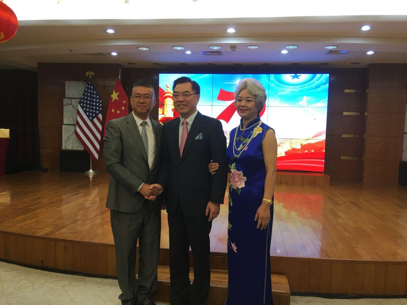 中国驻纽约总领事馆舉辦庆祝建国70周年招待會_图1-15