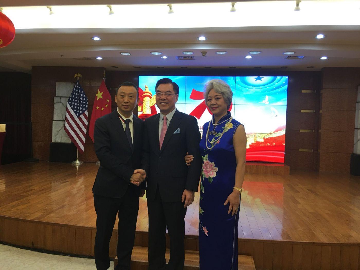 中国驻纽约总领事馆舉辦庆祝建国70周年招待會_图1-16