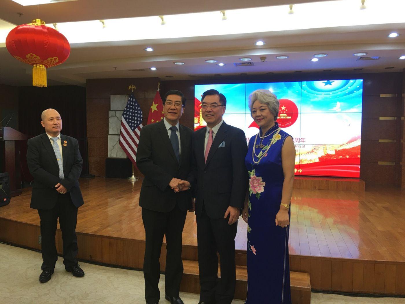 中国驻纽约总领事馆舉辦庆祝建国70周年招待會_图1-30