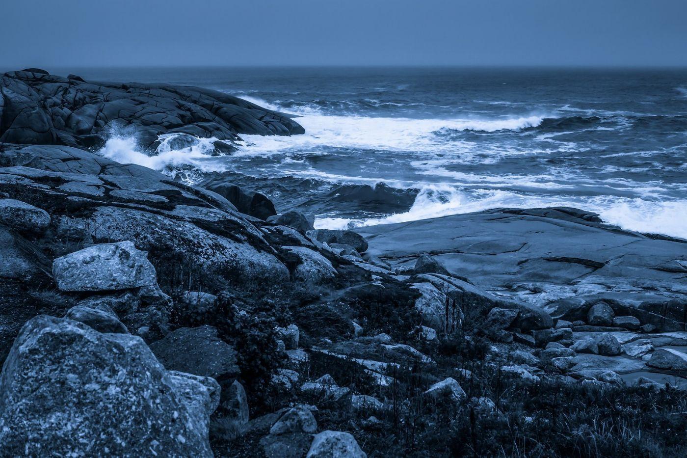 加拿大佩吉海湾(Peggys Cove),礁石上的灯塔_图1-21