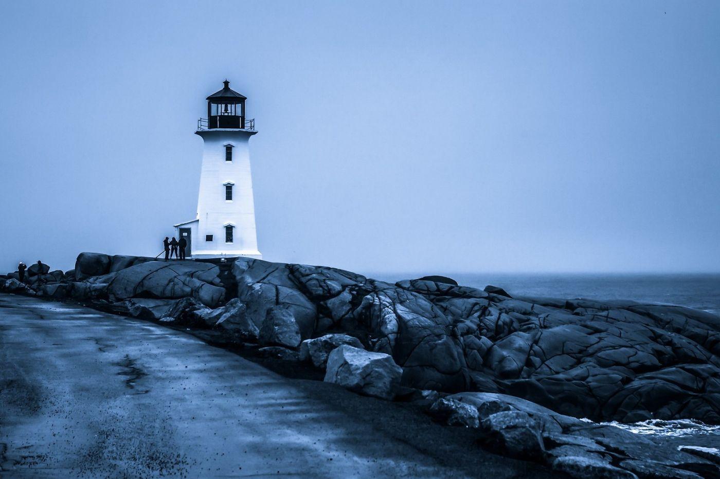 加拿大佩吉海湾(Peggys Cove),礁石上的灯塔_图1-14