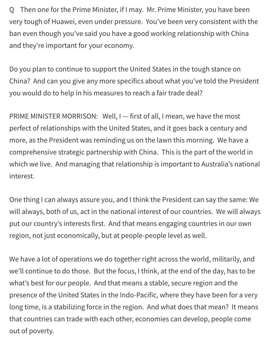 澳总理莫里森高调访美释放重要信息_图1-7