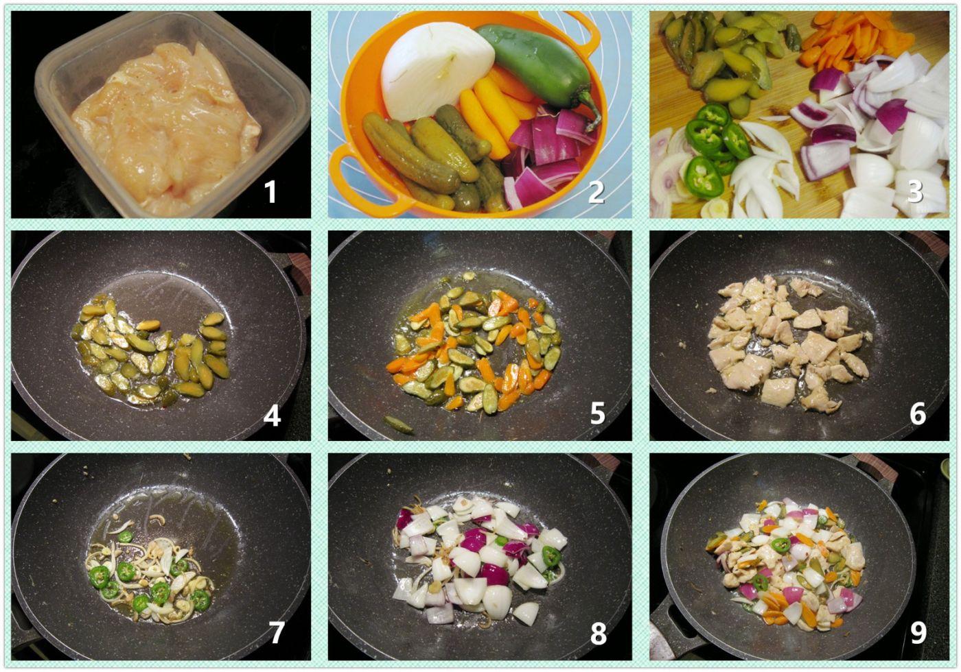 蔬菜炒鸡片_图1-2
