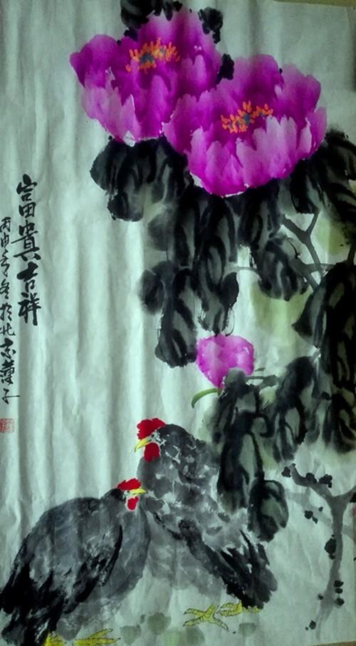 《国艳》盛世华章张炳瑞香牡丹系列作品_图1-2