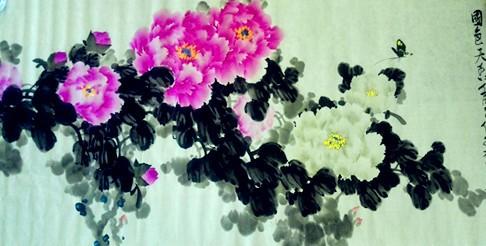 《国艳》盛世华章张炳瑞香牡丹系列作品_图1-4