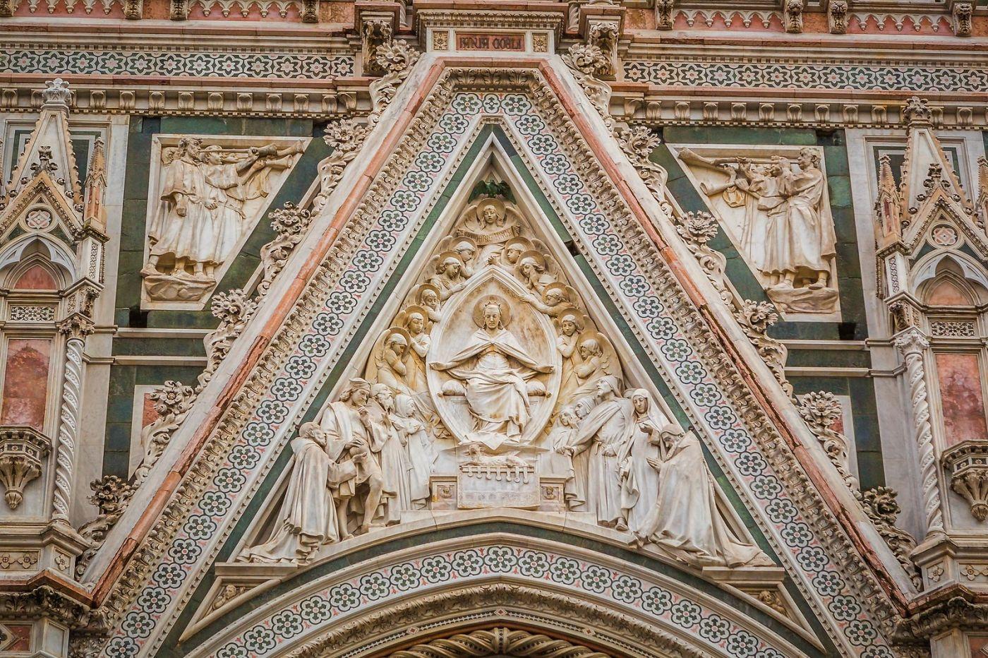 意大利佛罗伦斯主教堂,外饰登峰造极_图1-2