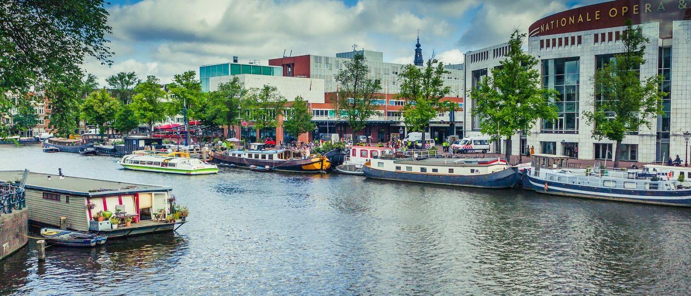 荷兰阿姆斯特丹,四通八达的城中河_图1-20