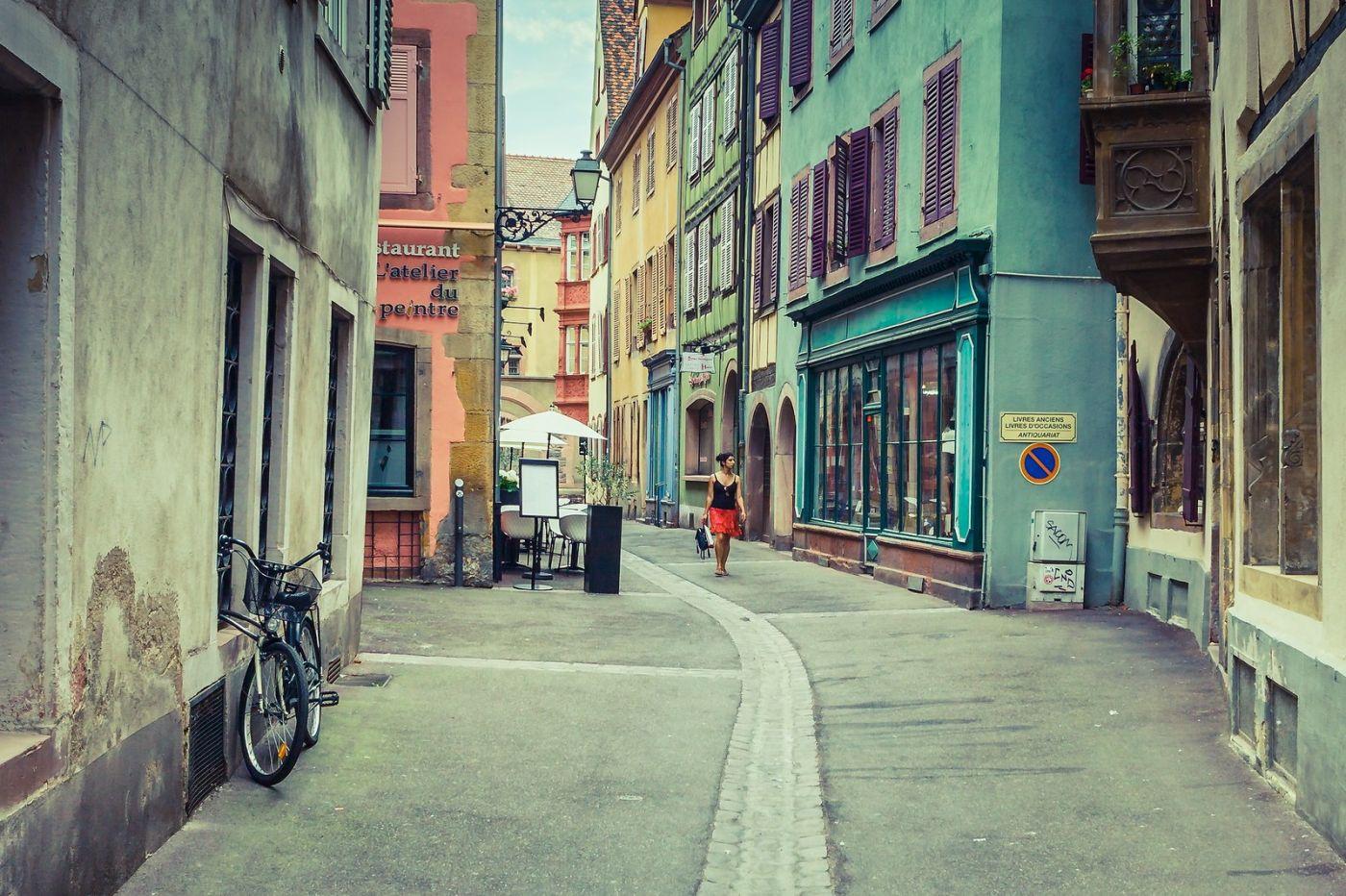 法国科尔马(Colmar),街口路拍_图1-23
