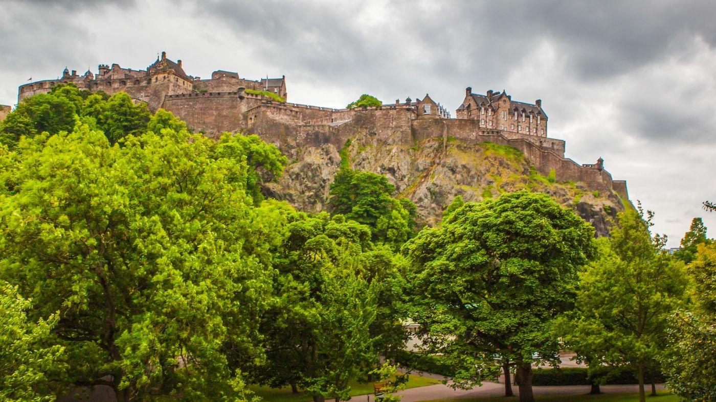 苏格兰爱丁堡城堡(Edinburgh Castle),城市的象征_图1-34