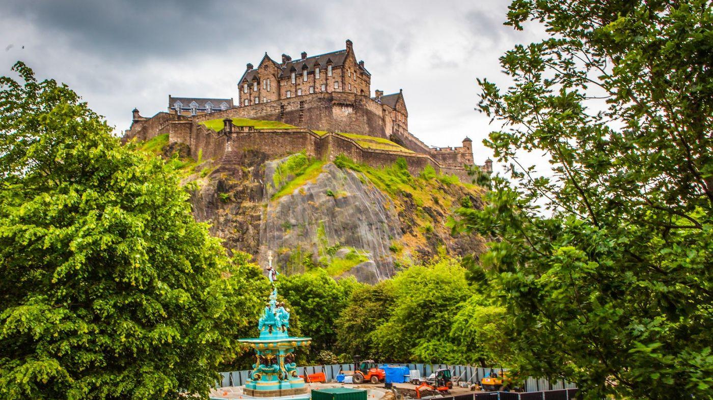 苏格兰爱丁堡城堡(Edinburgh Castle),城市的象征_图1-36